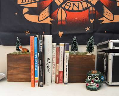 DIY Festive Forest Bookends