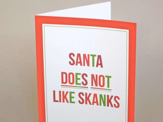 Scandalous Holiday Stationery