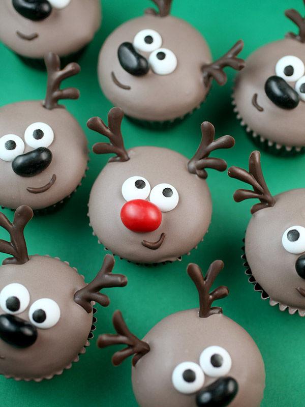 Festive Reindeer Cupcakes