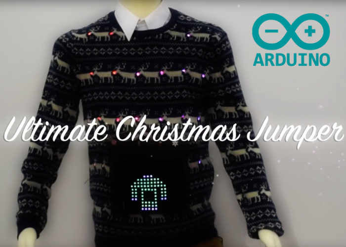 LED Display Holiday Sweaters