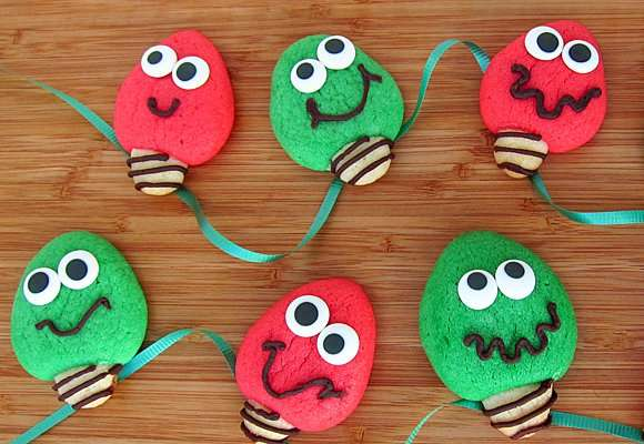 Goofy Holiday Bulb Treats