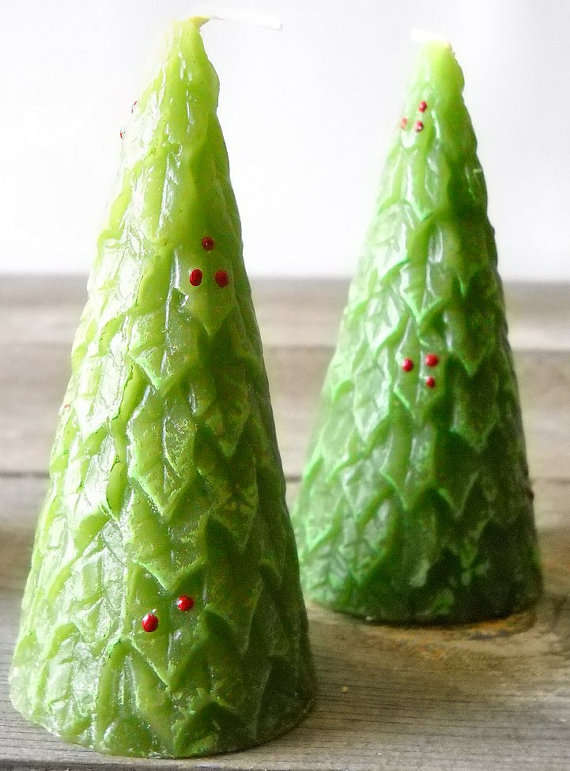 Holiday Tree Candlesticks