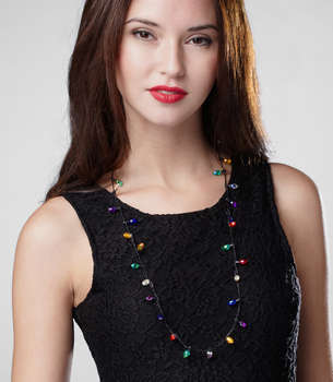 Christmas Tree Lights Necklace
