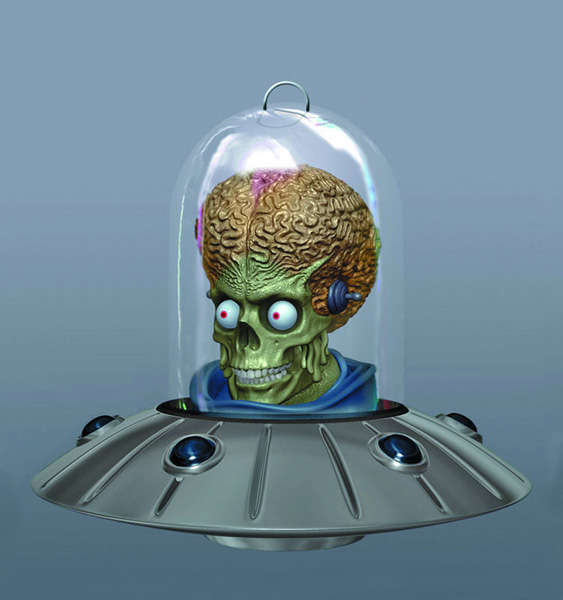 alien themed holiday decor christmas tree ornament