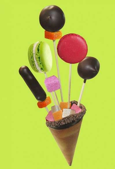 Candy-Filled Cones