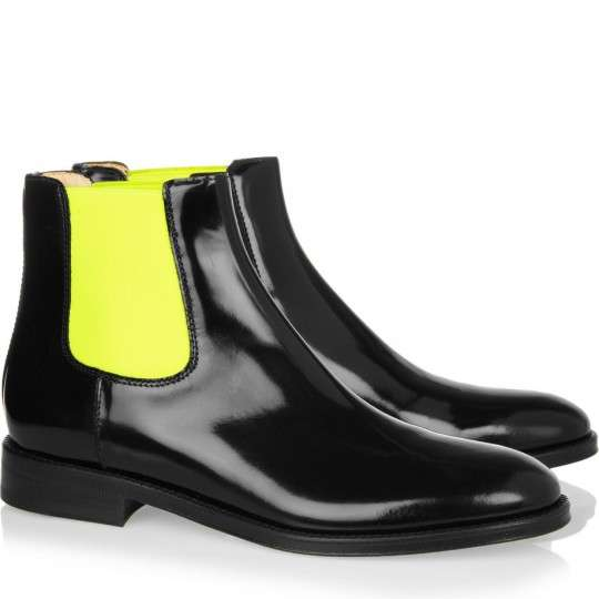 Fluorescently Polished Boots