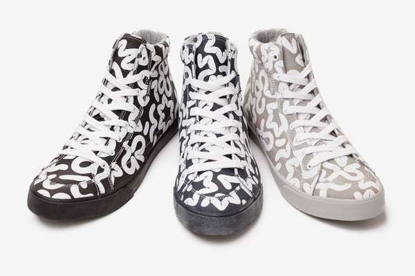 Playfully Printed Footwear