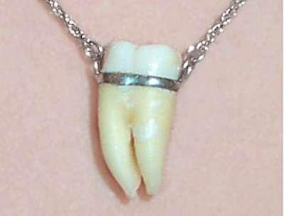 Toothy Pendants Churchyard Human Bone Jewelry