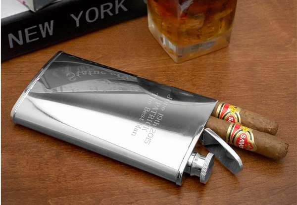 Cigar Holder and Flask