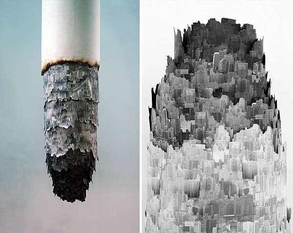 cigarette ash landscapes
