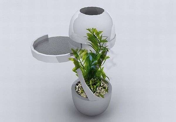 Cigarette-Butting Planters