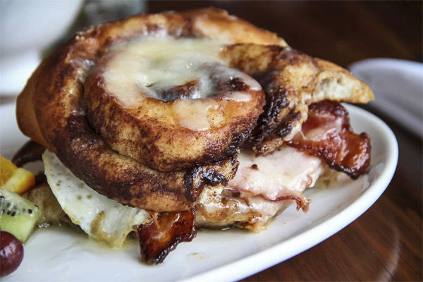 Cinnamon Bun Breakfast Sandwiches