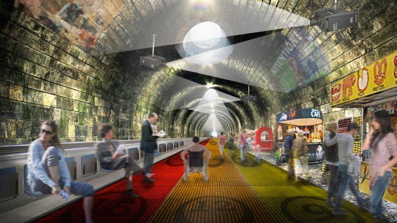 Supersonic Moving Sidewalks