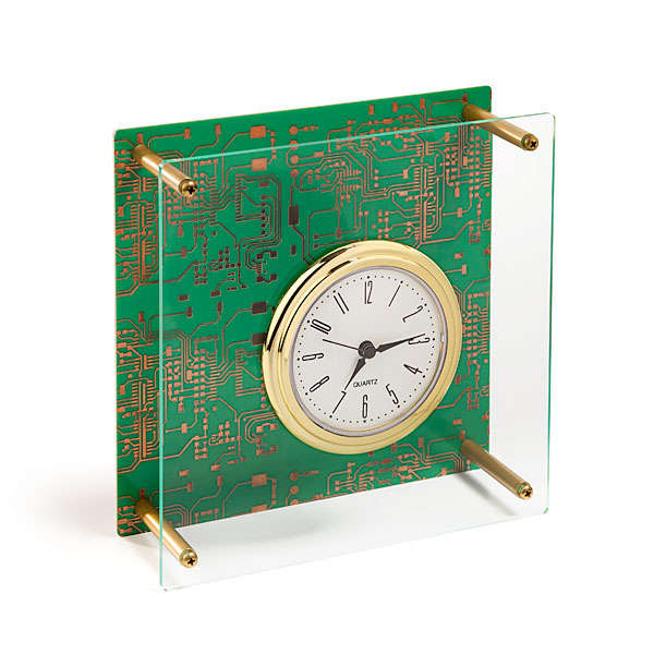Circuit Board Desk Clock