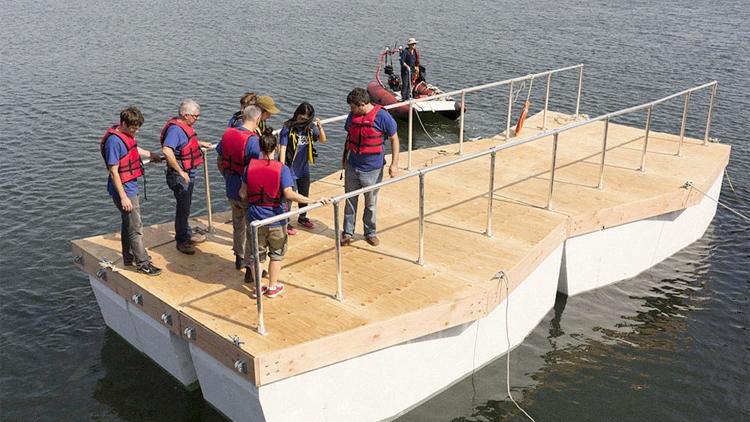 Floating Pedestrian Bridges