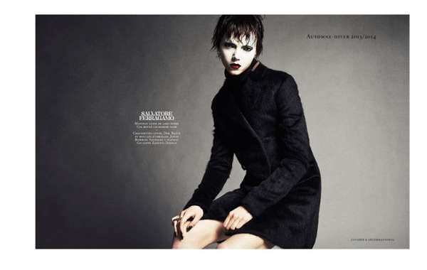 Glamorously Face-Painted Editorials