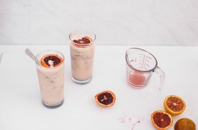 Boozy Chocolate Citrus Shakes