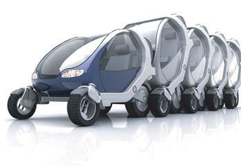 Foldable and Stackable City Car Concept