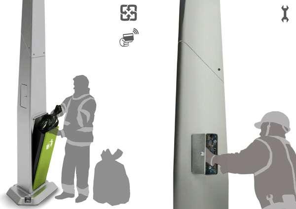 Litter-Consuming Lampposts
