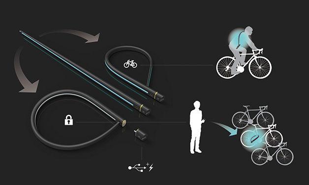 Lockable Bike Lights