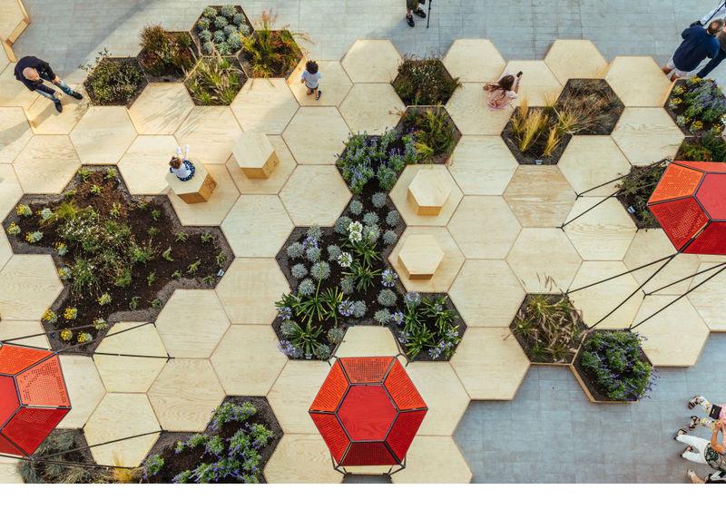 Hexagonal Urban Gardens