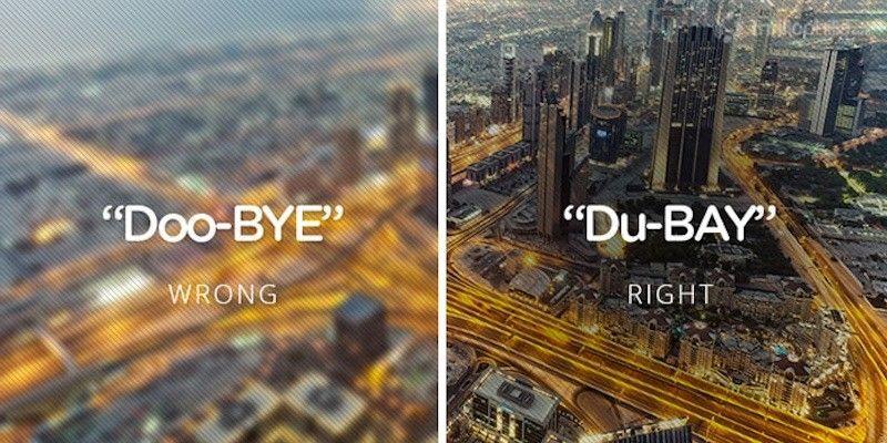 Pronunciation-Correcting Travel Posters