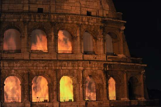 Rome-Burning Exhibitions