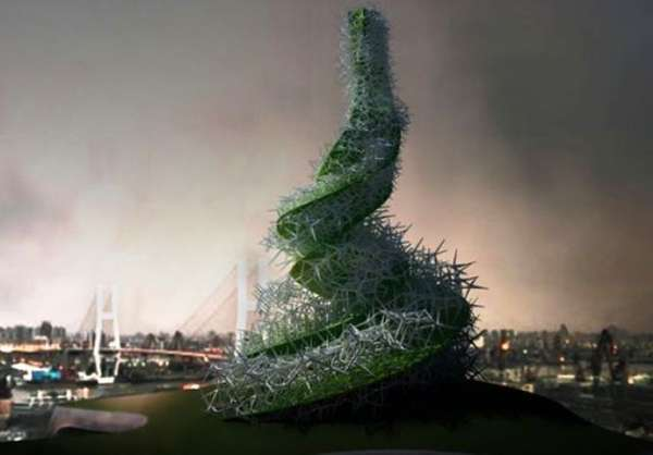 Air-Cleaning Algae Towers