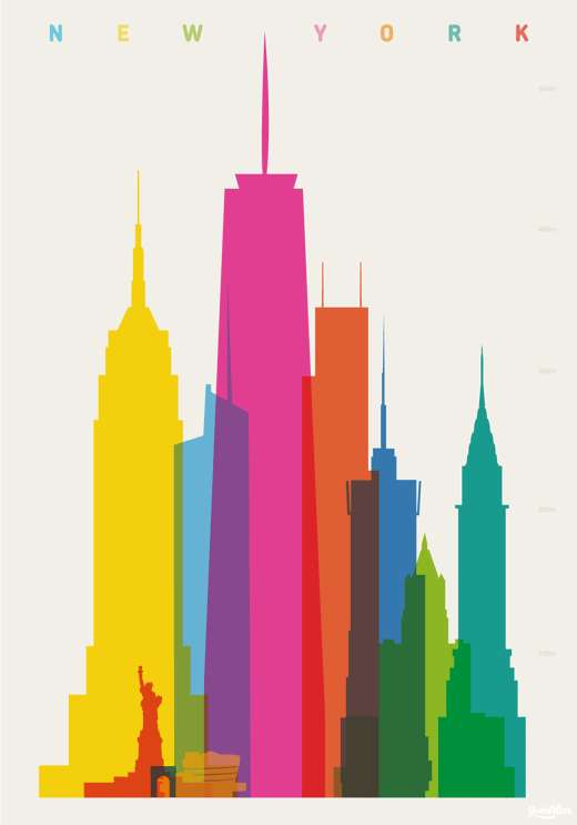 Chromatic Cityscape Posters