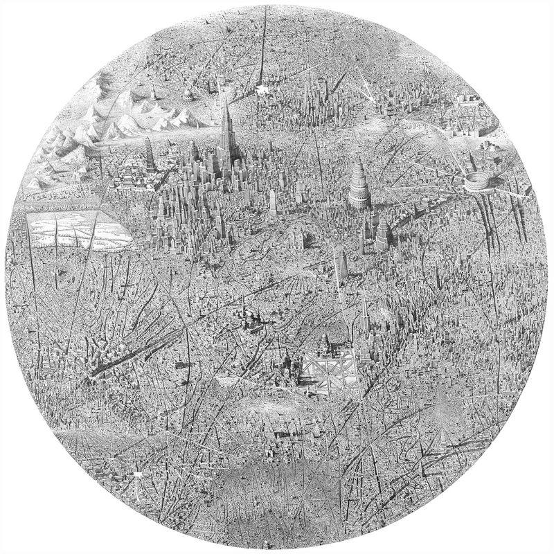 Inked Metropolis Drawings