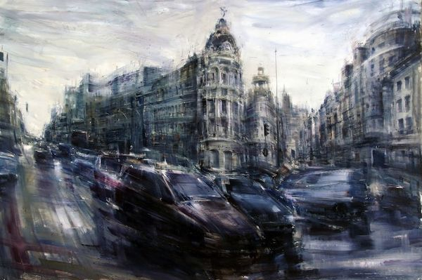 Chaotic Urban Dwelling Paintings
