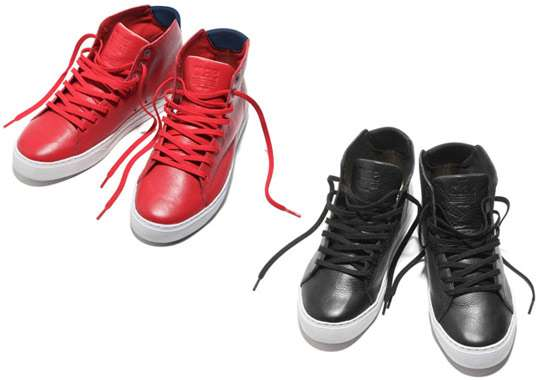 Perforated Leather High-Tops