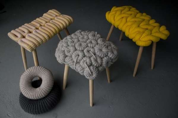 Chunky Knitted Stools