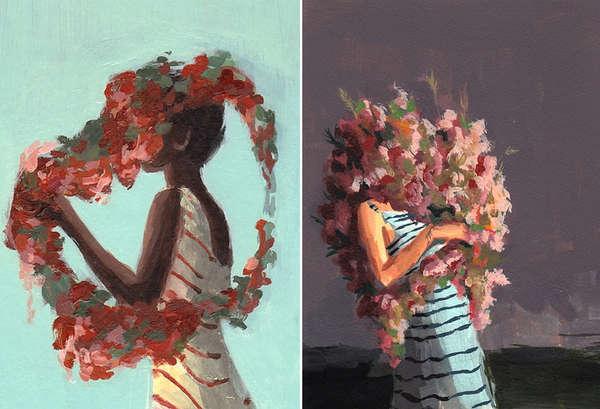 Lovely Flower-Faced Illustrations