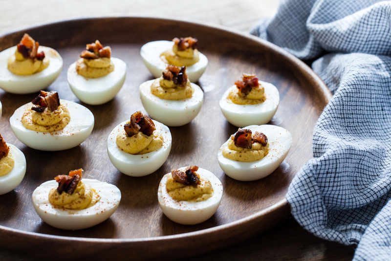 Squash-Filled Deviled Eggs