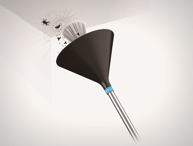 Cobweb-Catching Brooms