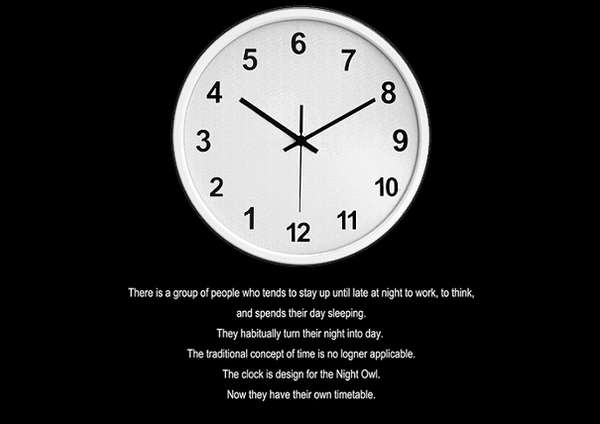 Clock for Night Owls
