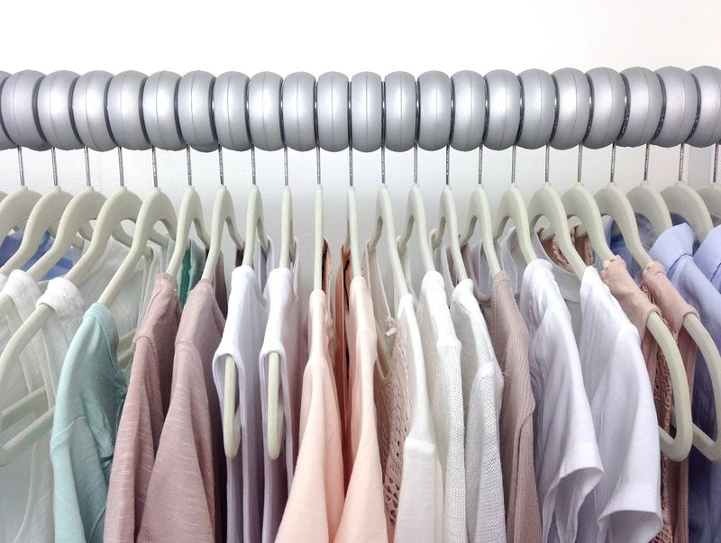 Hanger-Spacing Closet Devices