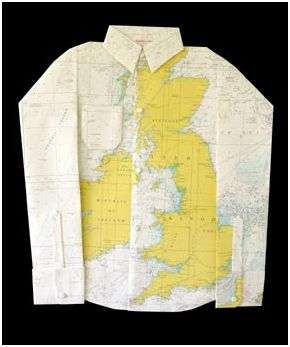 Clothes Made of Paper Maps