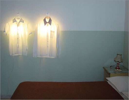 Clothes Hanger Lamp