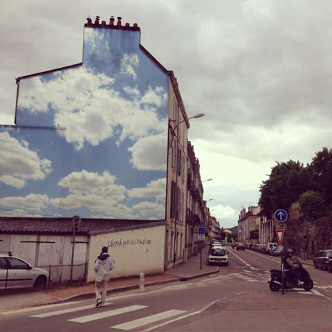 Amazingly Realistic Cloud Graffiti