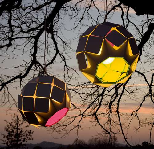Shuttered Spherical Lamps