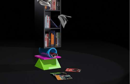 Clown Bookshelf by Andrey Zyomko