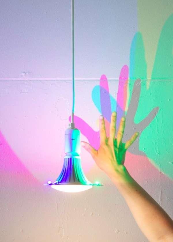 Colored Shadow-Casting Lightbulbs
