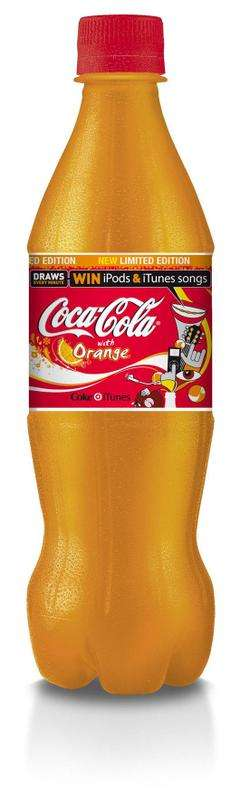coca cola orange drinks giant gets fruity for uk summer. Black Bedroom Furniture Sets. Home Design Ideas