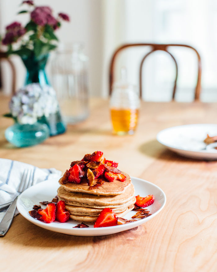 Coconut Bacon Pancakes