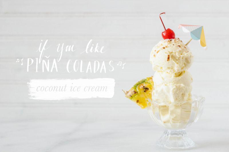 Pina Colada Ice Creams