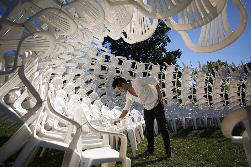 Lawn Chair Sculptures