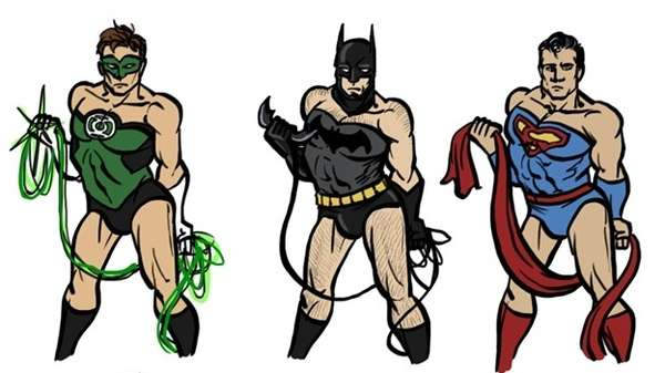 Androgynous Male Superheros