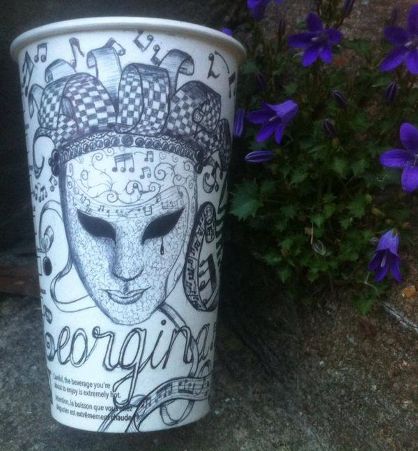 Personalized Coffee Cup Illustrations